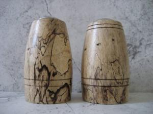 Salt & Pepper set made of Spalted Tamarind.