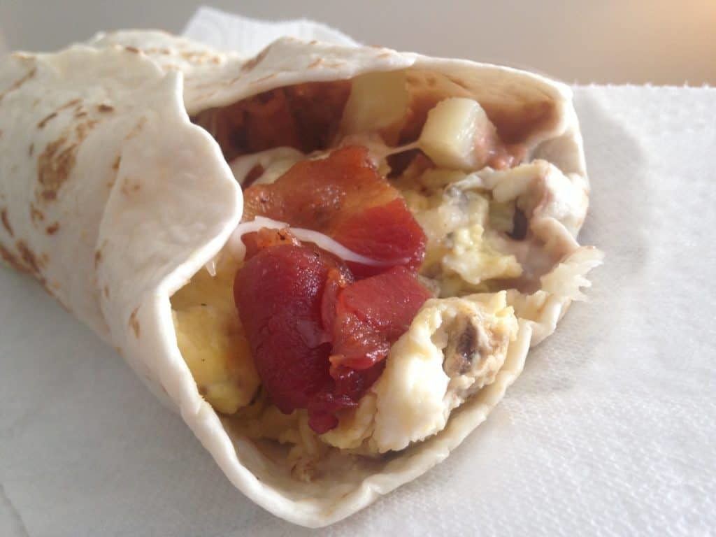 Breakfast taco, The Elephante, from Lolitas Restaurant in Waco, Texas.