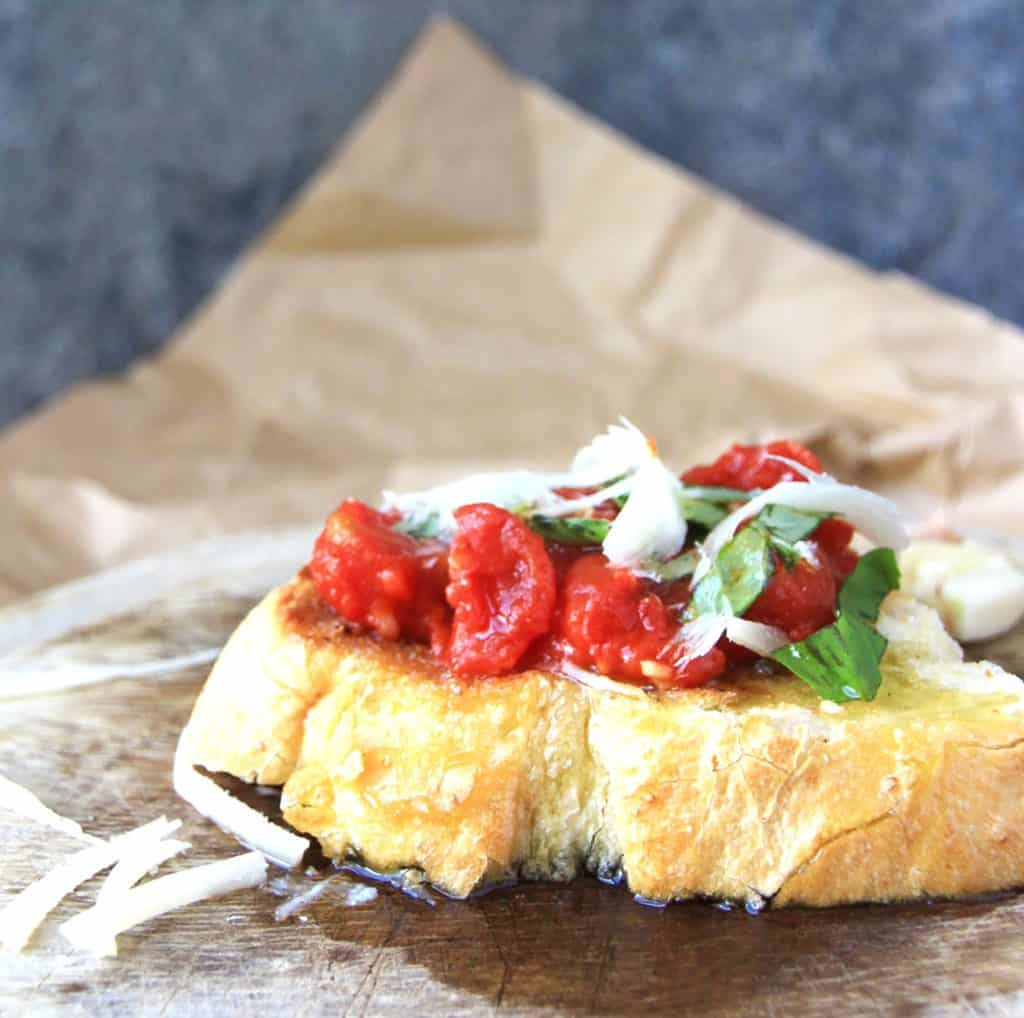 Simple Bruschetta Recipe inspired by the amazing tomatoes in Italy and my trip to Florence.