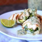 Chicken Tacos with Creamy Roasted Poblano Sauce. Use market rotisserie chicken and make this a weeknight meal!