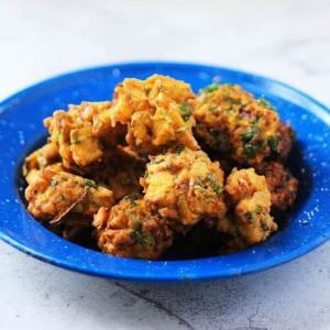 Crispy Zucchini Pakora, a wonderful Indian treat