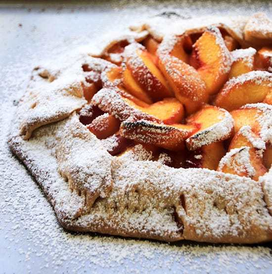 Easy rustic peach galette recipe