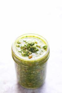 Pesto Basics 101. Pesto is easy, flexible and really packs the wow factor. With just herbs or greens, cheese, olive oil, garlic and nuts, you can have this amazing sauce in just a few minutes. | FusionCraftiness.com