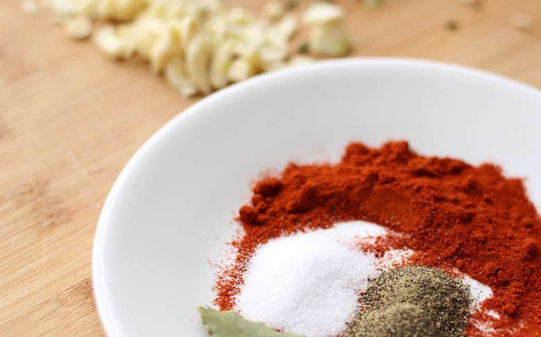 Spices in a bowl.