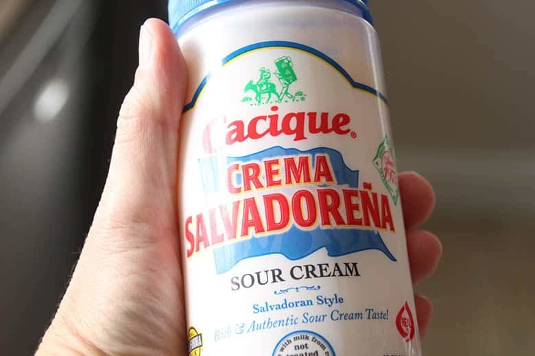A jar of Salvadoran sour cream.