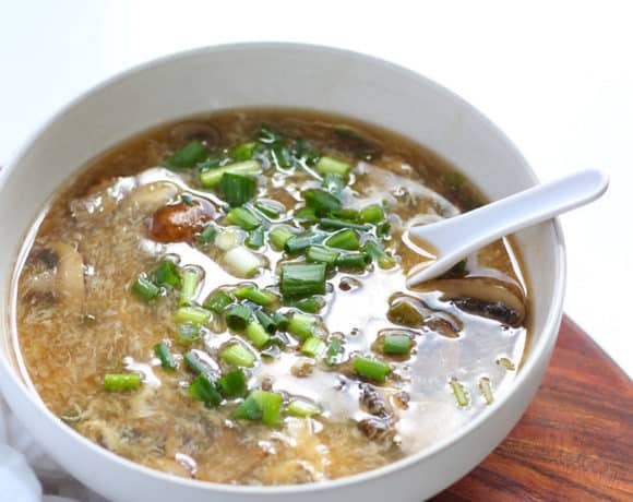 Easy Vegetarian Hot and Sour Soup Recipe