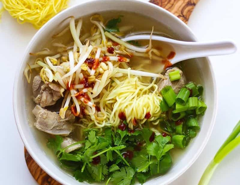 A bowl of Pho soup.