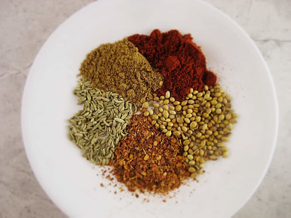 Harissa Spices on a plate.