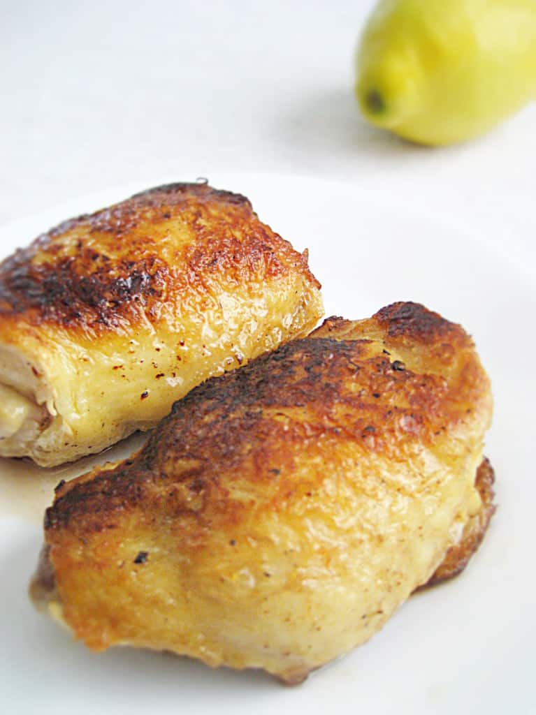 Easy pan seared chicken breasts, finished in the oven.
