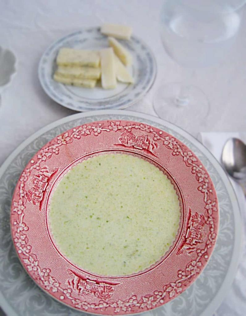 Prince Alberts' favorite soup, rich with cream , brussel sprouts and a bit of sherry.