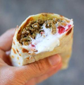 Lamb Curry Burrito