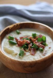 Simple and tasty Potato Soup with Bacon Recipe