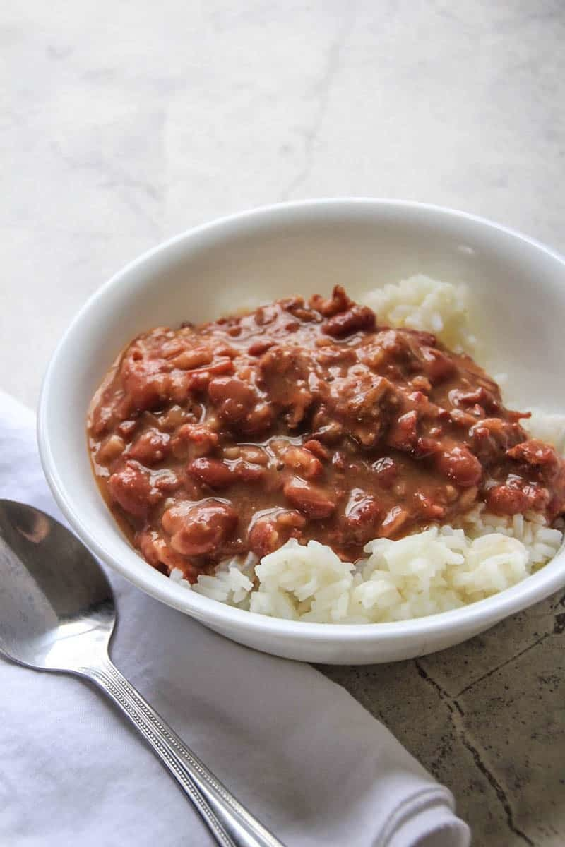 Lone Star Red Beans and Rice. A smoked brisket version of a Southern classic.