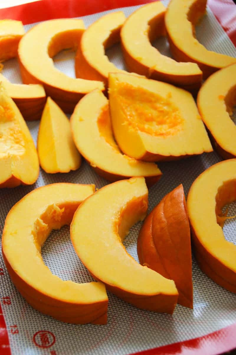 How to roast a pumpkin, or any Winter squash. So easy and freezes well too!