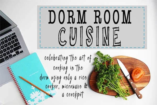 A cookbook for college students living in the dorm. Learn to cooking using only a rice cooker, crockpot and microwave. | FusionCraftiness.com