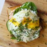 Danish Smorrebrod with Salmon | an open-faced sandwich. This easy to make classic Danish sandwich is layered with Salmon Pate, cream cheese, cucumber slices, greens, dill, chives and has an egg on it. A traditional Scandinavian sandwich.