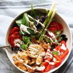A bowl of Chicken Tinga Salad.