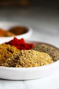 A plate of mixed spices.