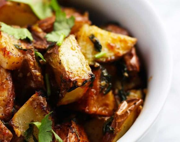 Batata Harra | Lebanese Twice Cooked Potatoes