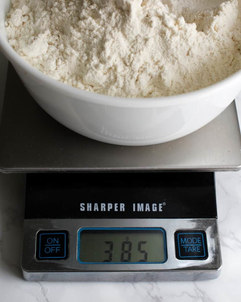 Measuring flour is always best.