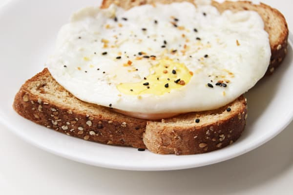 Over medium egg on toast.