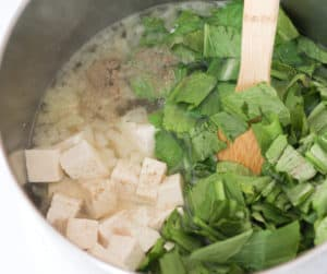 Tofu and cabbage added.