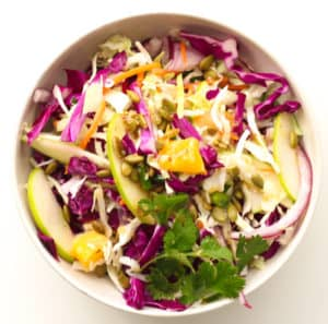 A bowl of slaw.